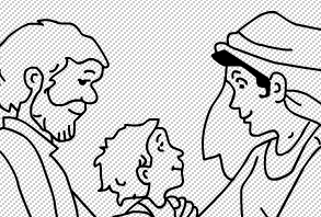 Holy Family Coloring Game -